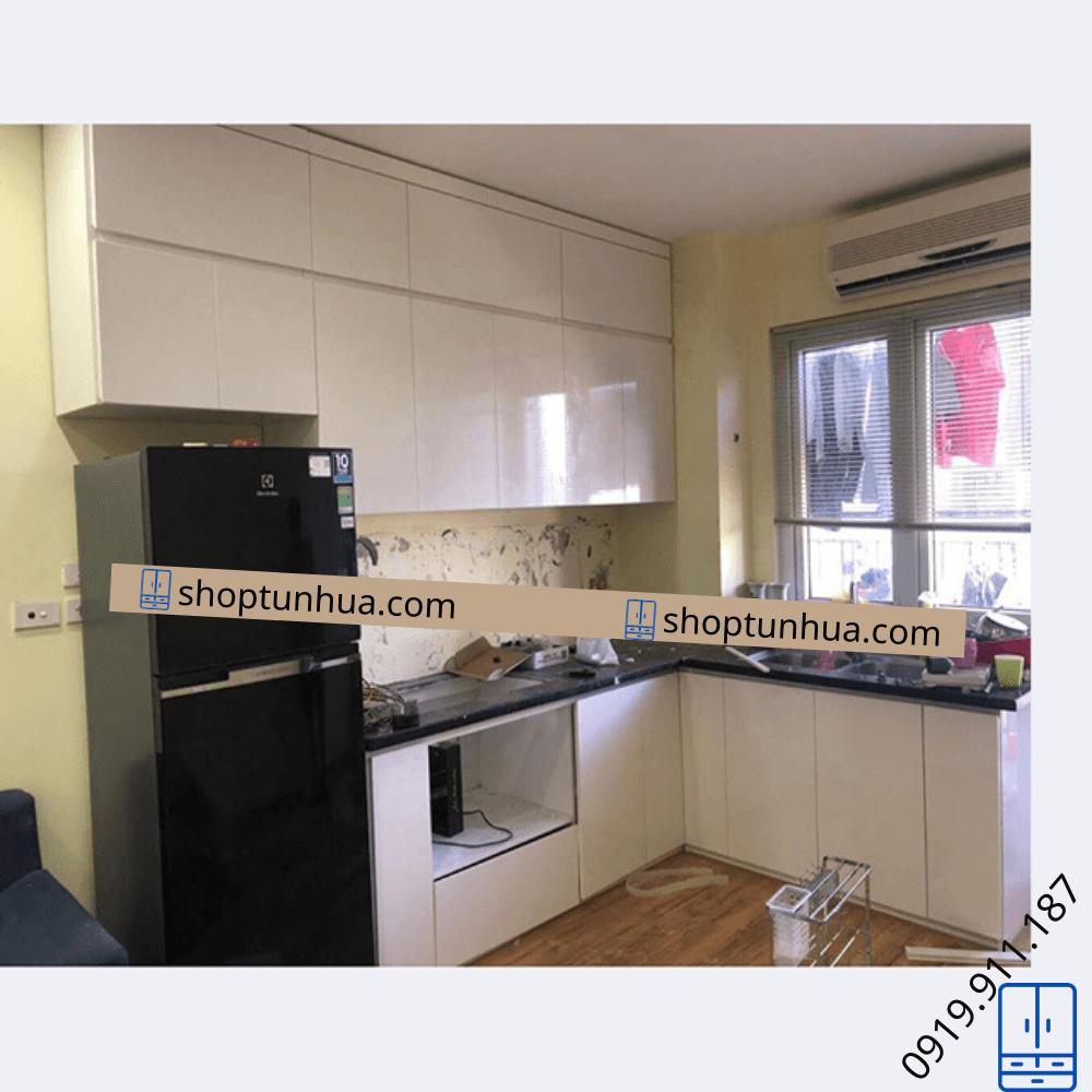 Tủ bếp nhà chị Ngọc – Đơn nguyên B – chung cư Đại Kim Building.