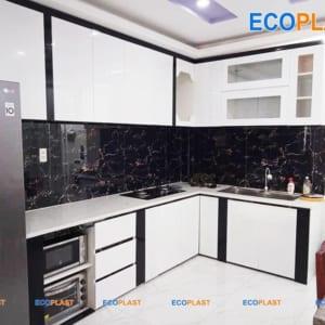 tủ bếp nhựa khung bê tông ec03